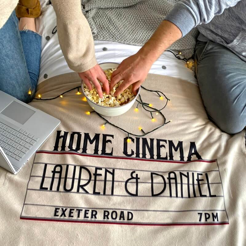 Personalised Home Cinema Fleece Blanket