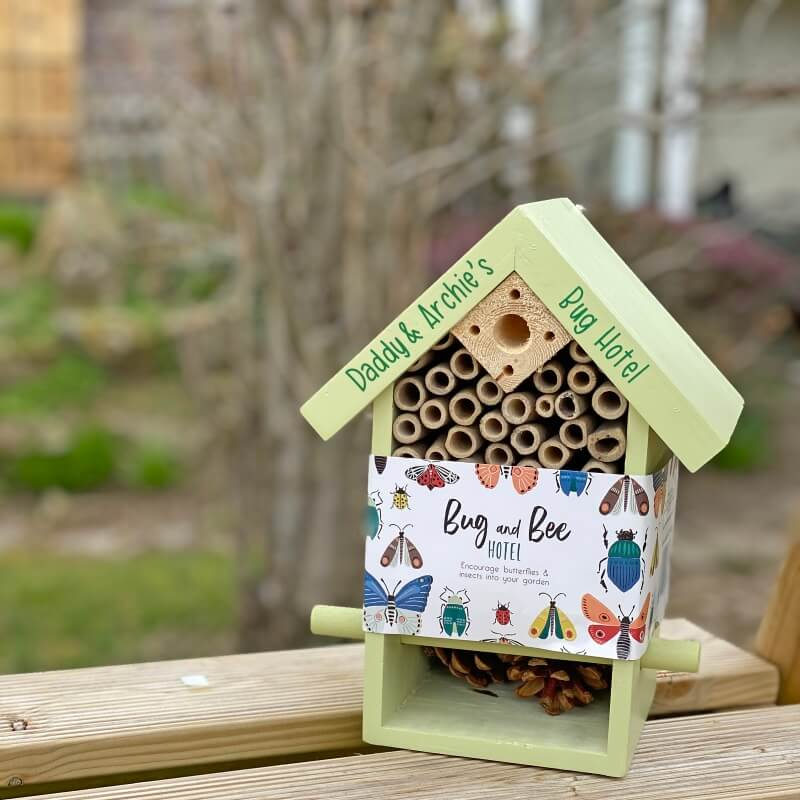 Personalised Garden Bug House