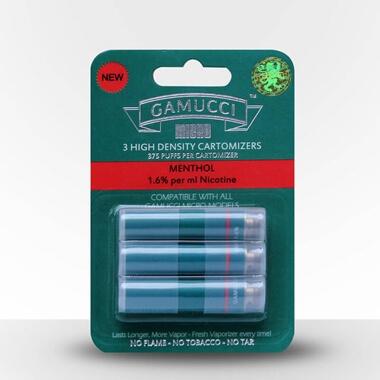 Gamucci Micro Cigarette 3 Cartomizer Refill Pack - Menthol