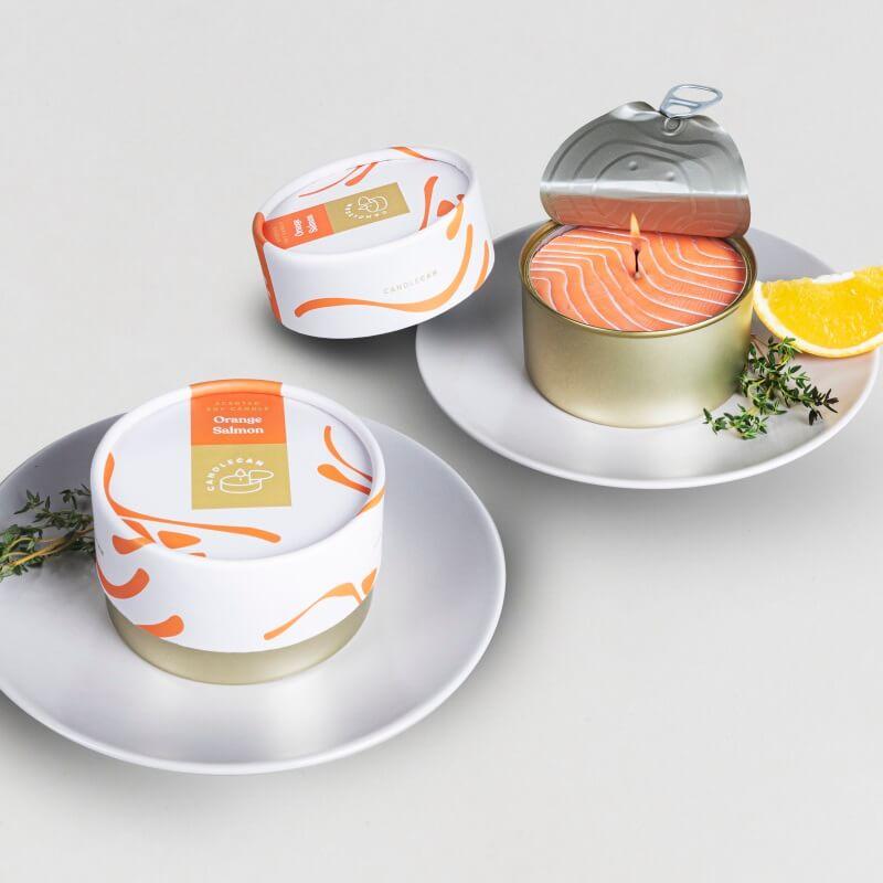 Candle Can - Orange Salmon