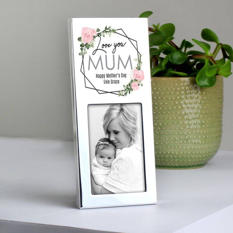 Personalised Abstract Rose Photo Frame