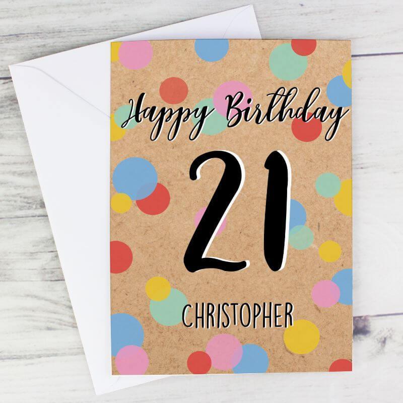 Personalised Colour Confetti Birthday Card