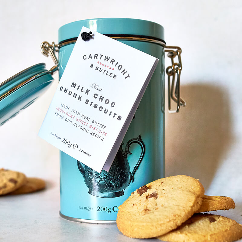 Cartwright And Butler Milk Chocolate Chunk Biscuits in Tin