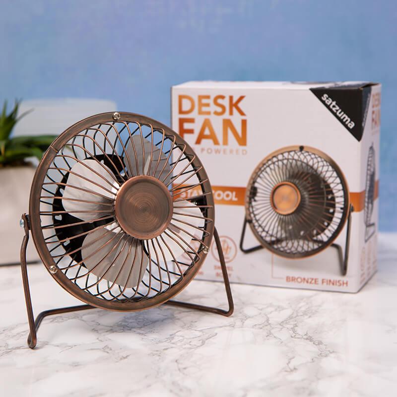 Bronze Desk Fan