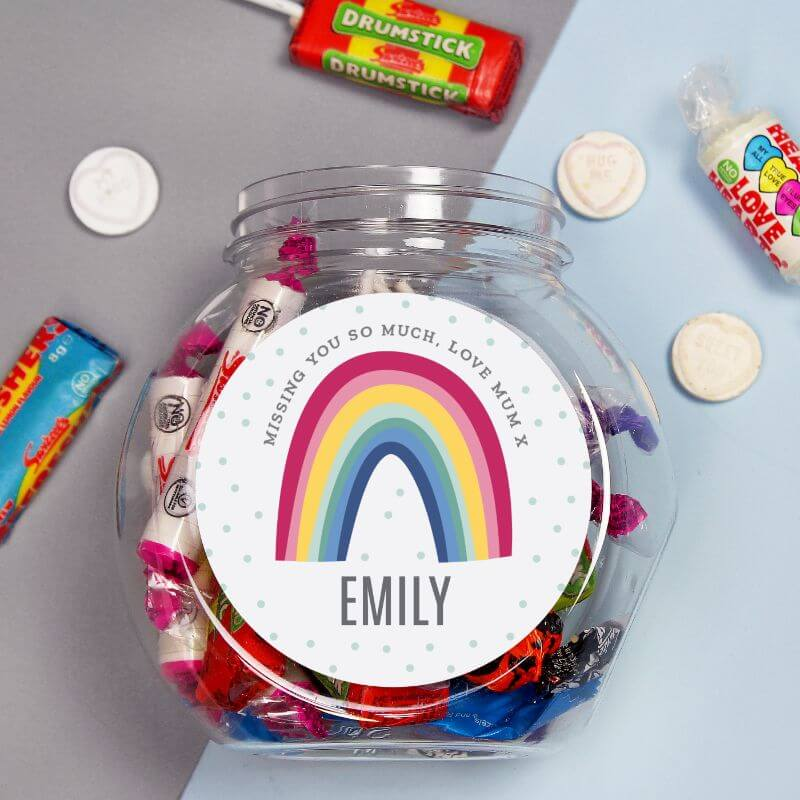 Personalised Rainbow Sweetie Jar