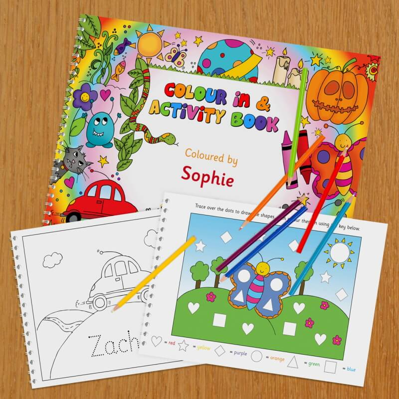 Personalised Colour In Activity Book