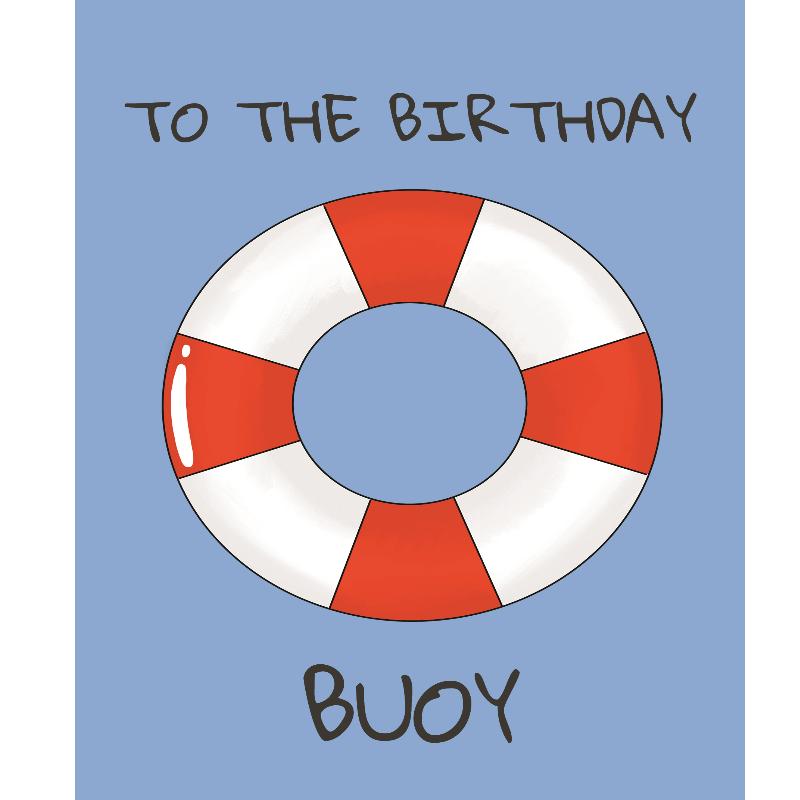 Personalised Birthday Buoy Card