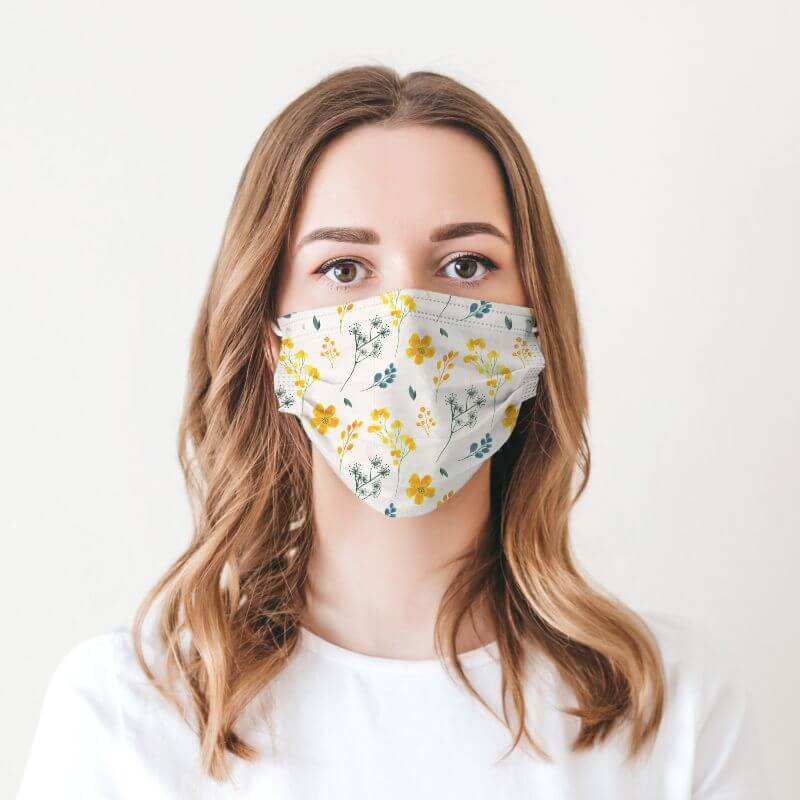 Face Mask - Nature Prints