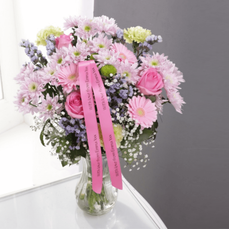 Personalised Pastel Pink Gift Bouquet