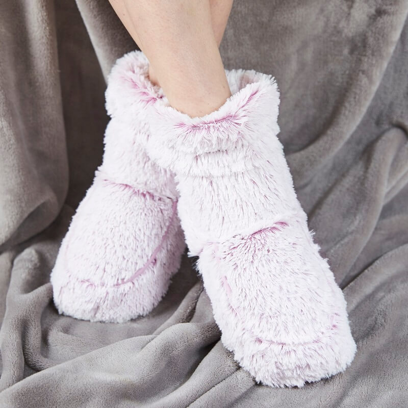 Cosy Microwaveable Boots - Light Pink