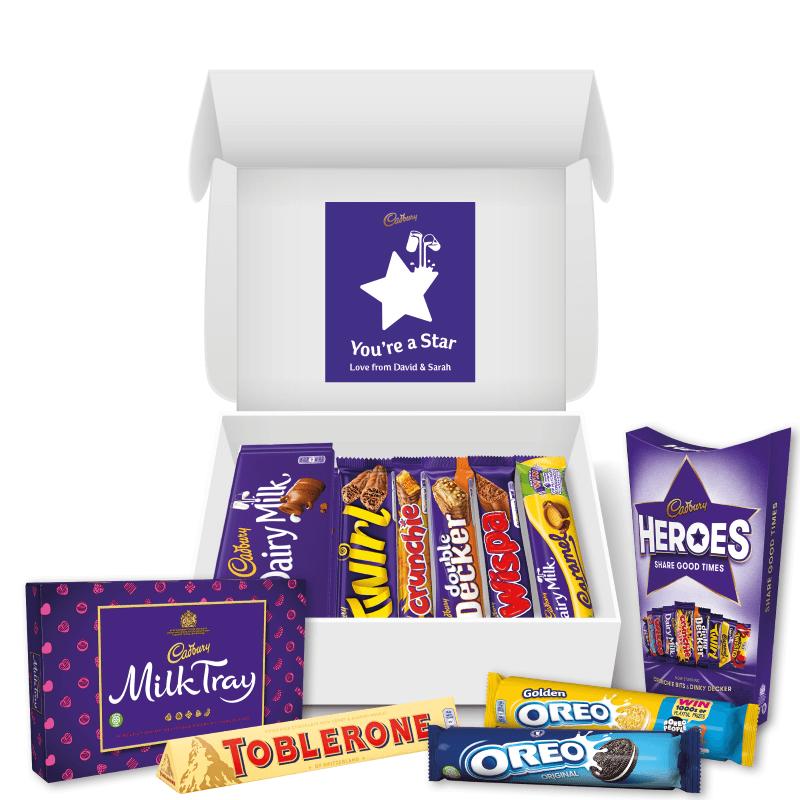 Personalised Star Cadbury Family Hamper
