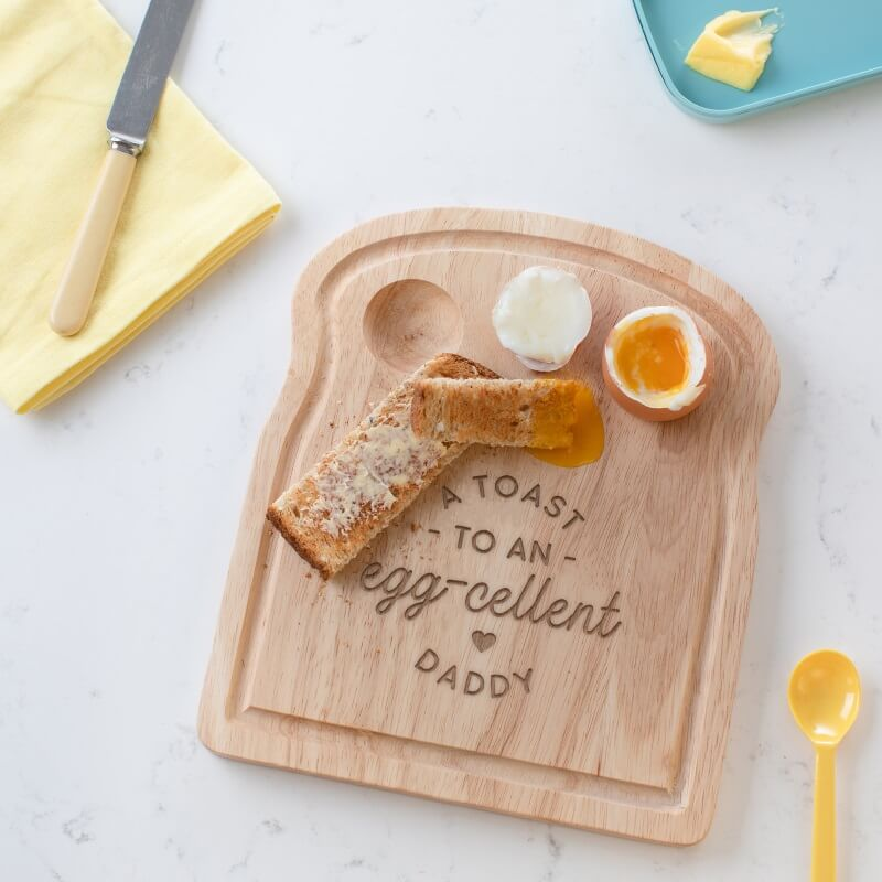 Personalised Toast to an Eggcellent Dad Breakfast Egg Board