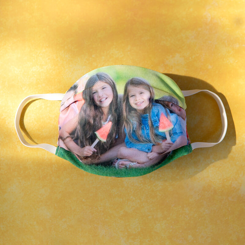 Personalised Photo Face Cover - Adults Size