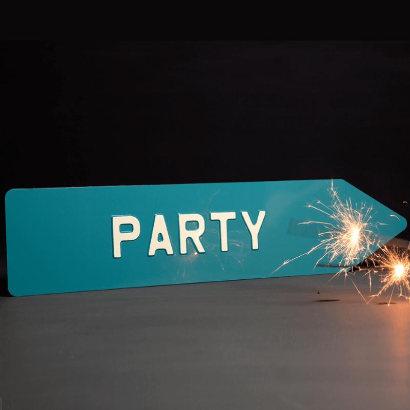 Personalised Shaped Handmade Aluminium Sign