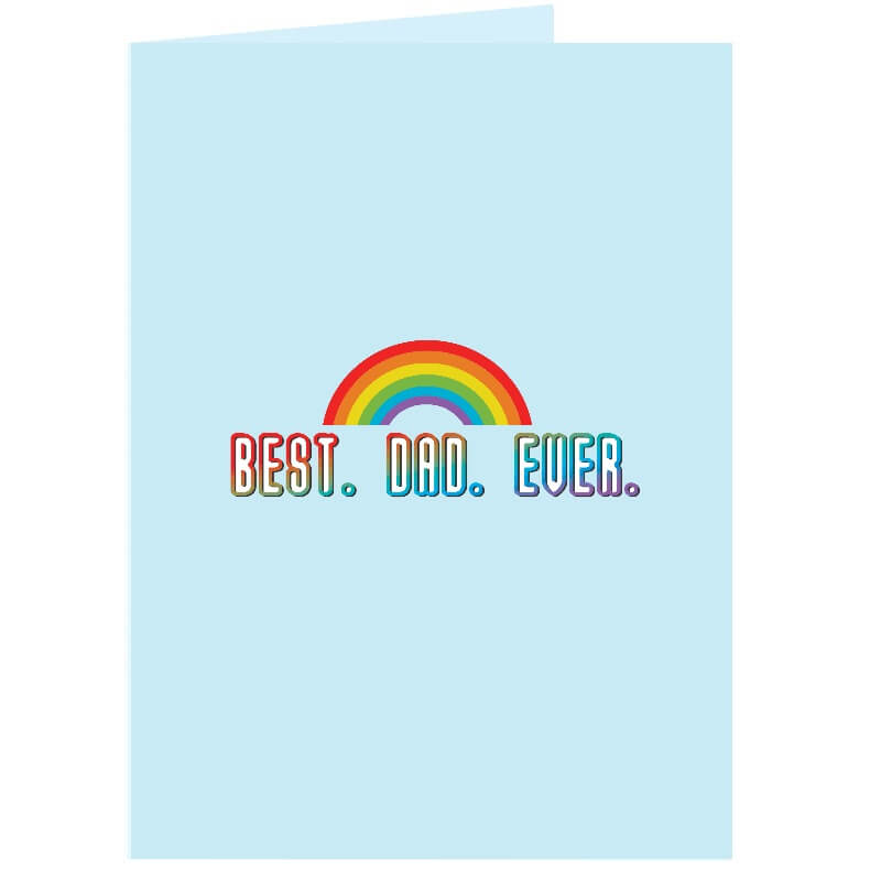 Personalised Best Dad Ever Card