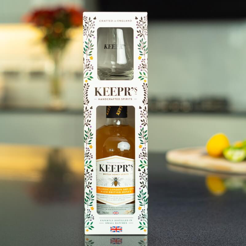 Personalised Keepr's Honey Gin Tasting Gift Box