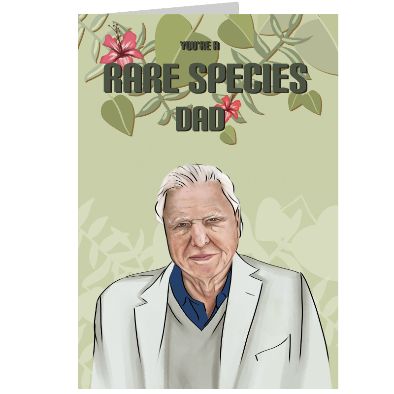 Personalised Rare Species Card