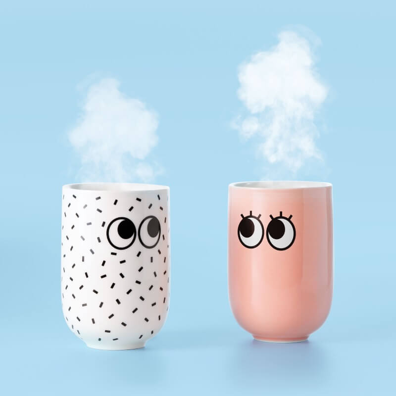 Googly Eye Double Wall Mug - White