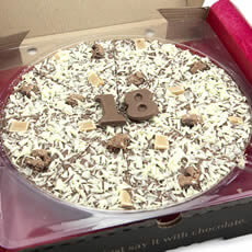 Image of 18th Birthday Chocolate Pizza - 10""