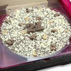 "Image of 21st Birthday Chocolate Pizza - 10"""