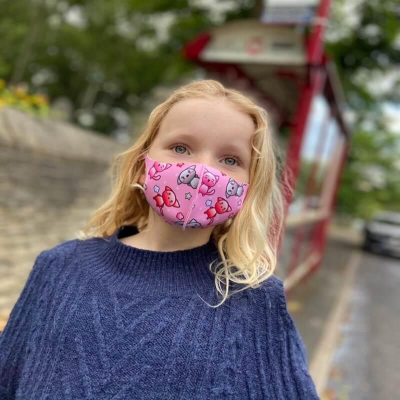 Personalised Kids Animal Face Mask