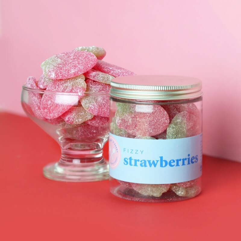 Fizzy Strawberries Sweet Tub
