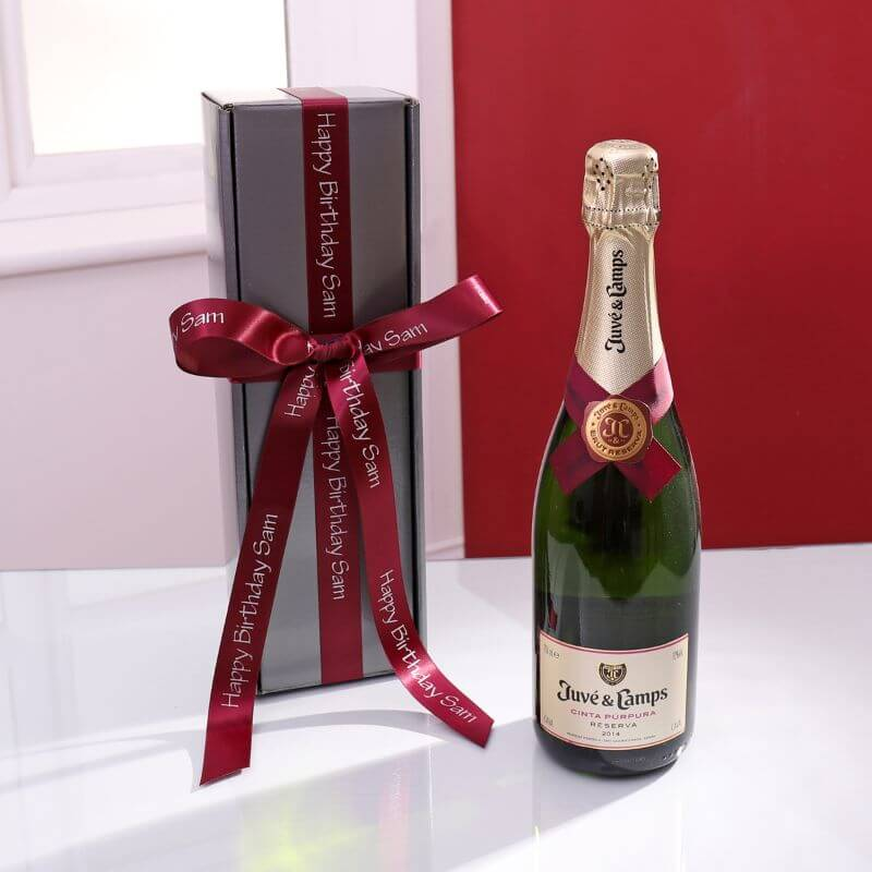 Personalised Cava Brut Gift Box