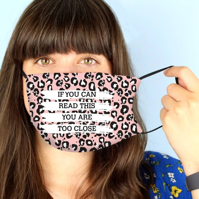Personalised Leopard Print Face Mask
