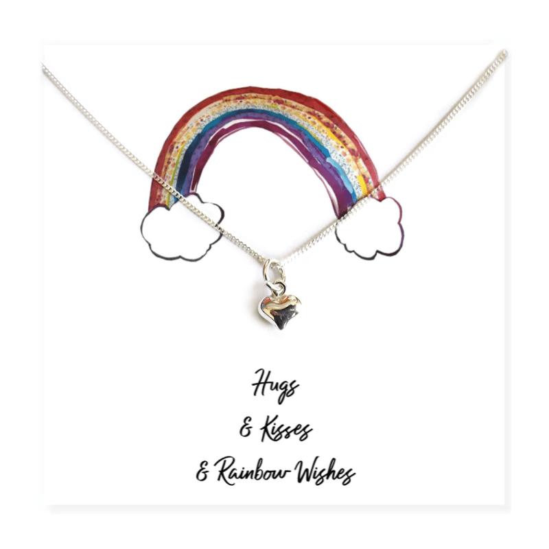 Heart Necklace On Rainbow Card