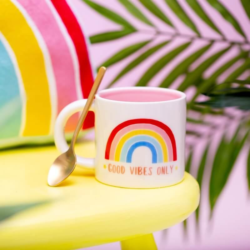 Chasing Rainbows Good Vibes Only Mug