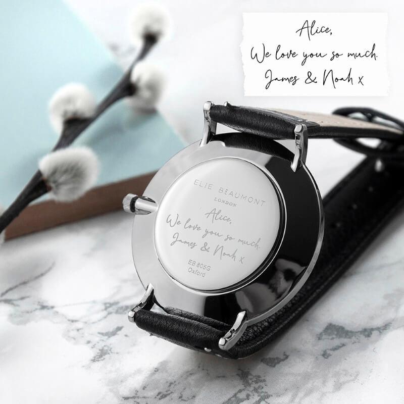 Personalised Handwriting Ladies Leather Watch