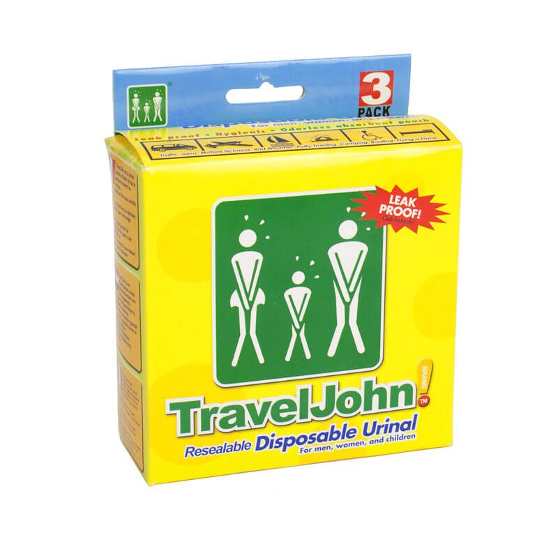 TravelJohn Resealable Disposable Urinal - Pack of 3