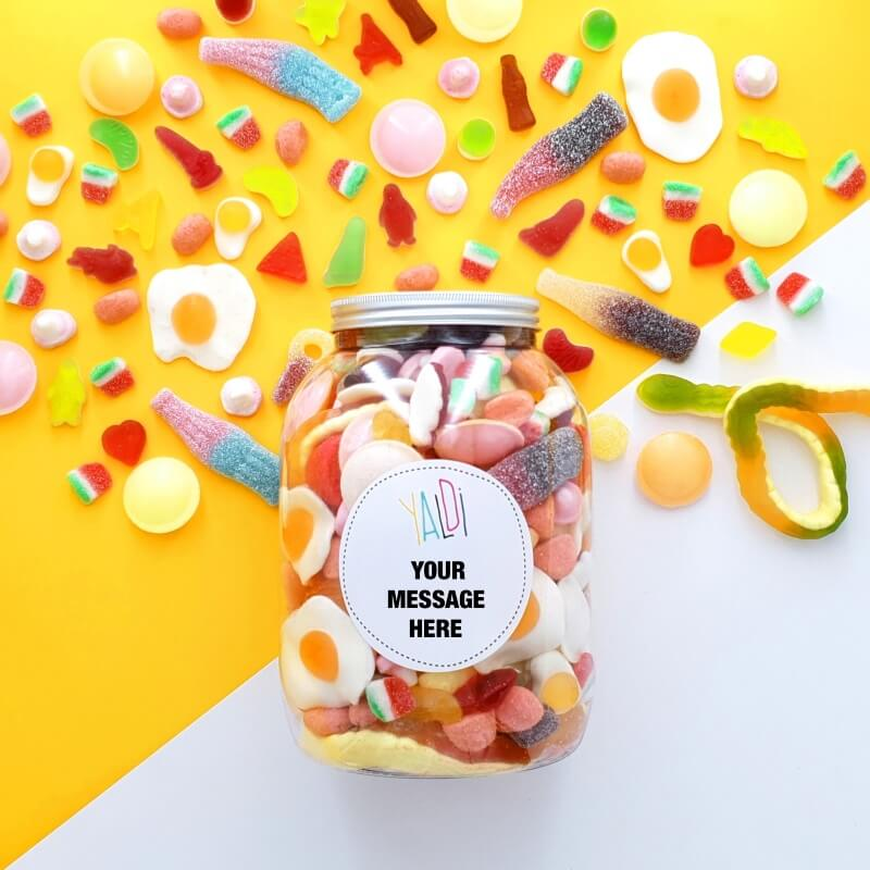 Personalised Greedy Guys Sweets Jar