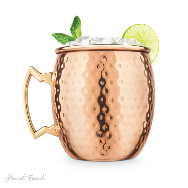 Final Touch Moscow Mule Mug - Hammered Finish