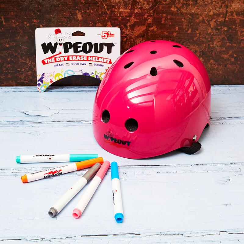 Wipeout Helmet Age 5 + - Pink