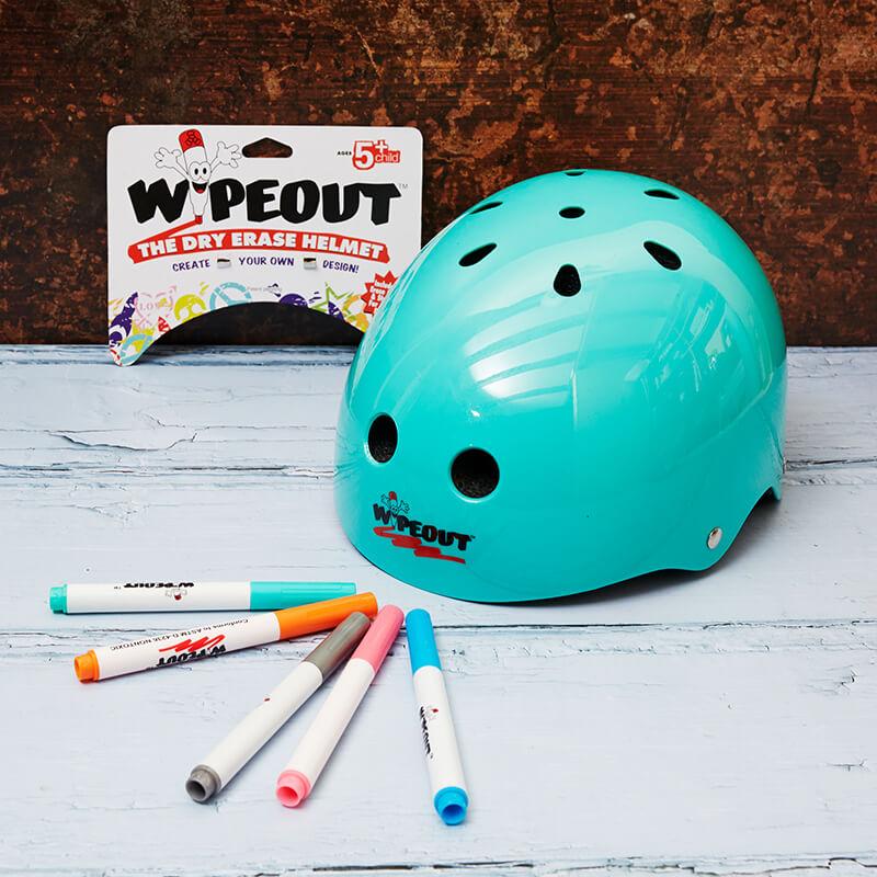 Wipeout Helmet Age 8 +   Teal