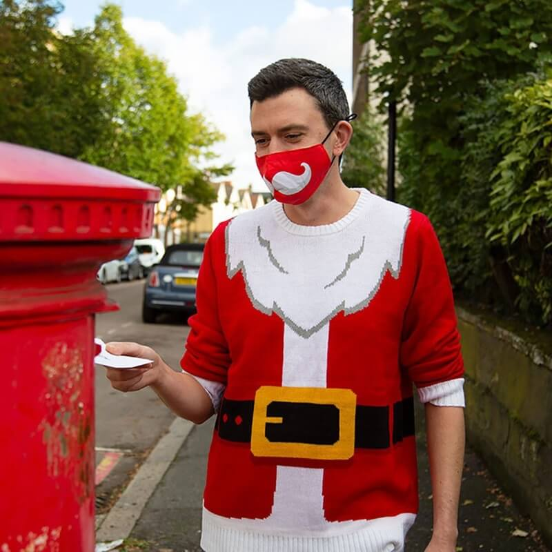 Festive Santa Face Covering