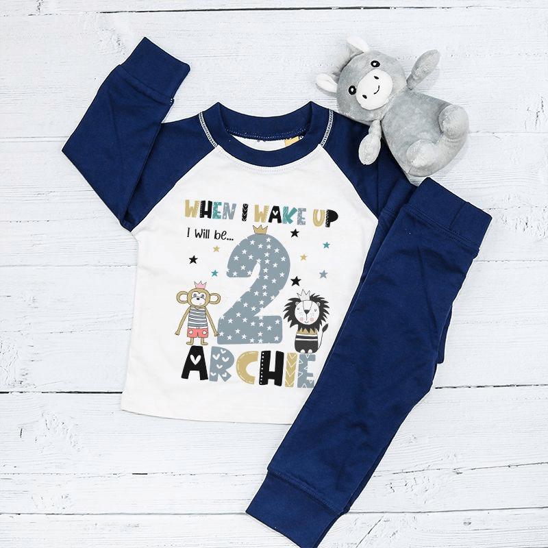 Personalised Animal Birthday Eve Pyjamas