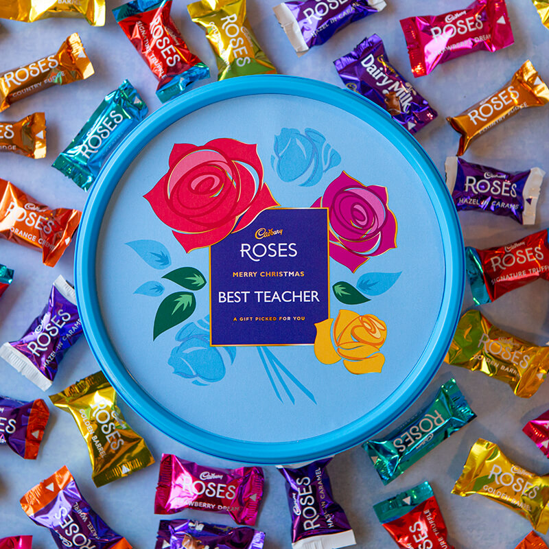 Personalised Roses Tub