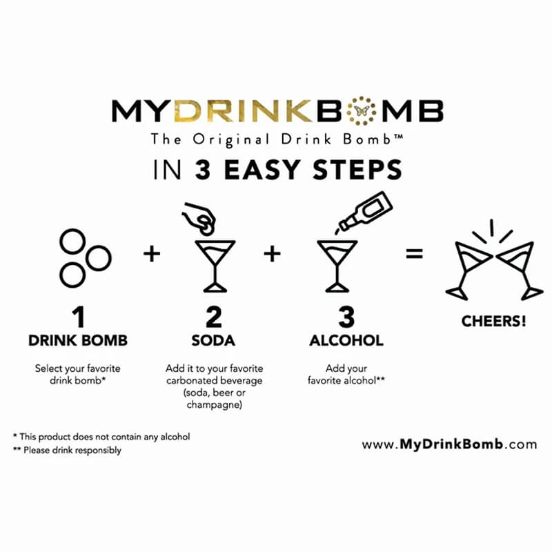 Novelty Gifts Lychee Martini Drink Bomb - Pack Of 4