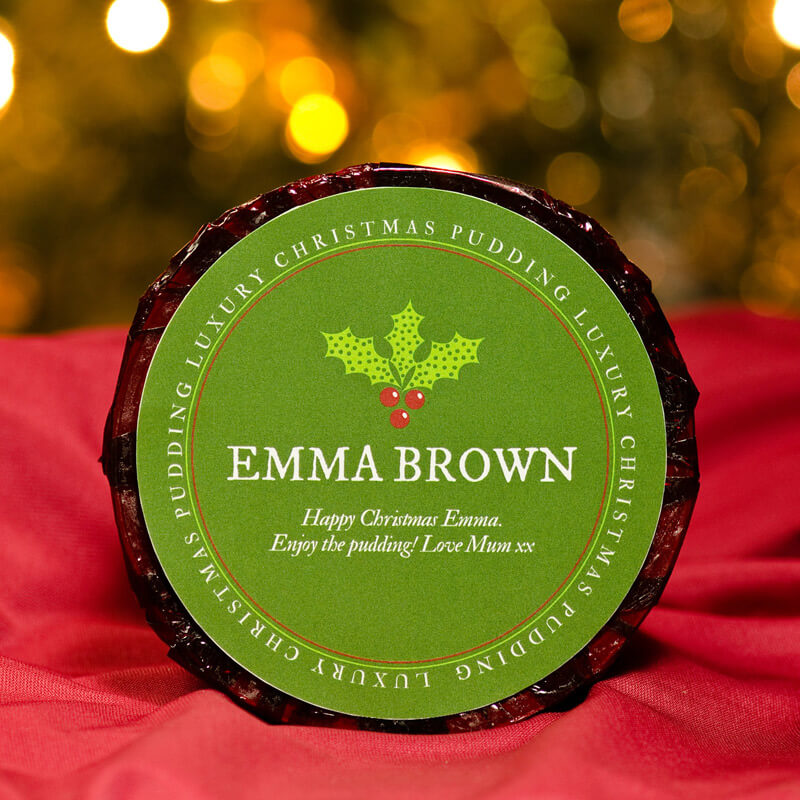 Personalised Christmas Pudding - Large