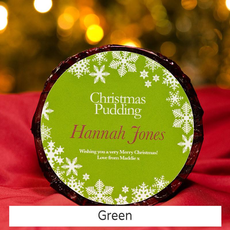 Personalised Christmas Pudding - Large