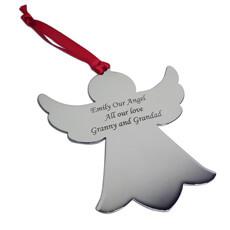 Personalised Christmas Angel Tree Decoration