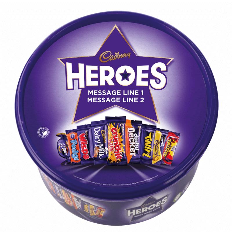 Personalised Cadbury Heroes Tub
