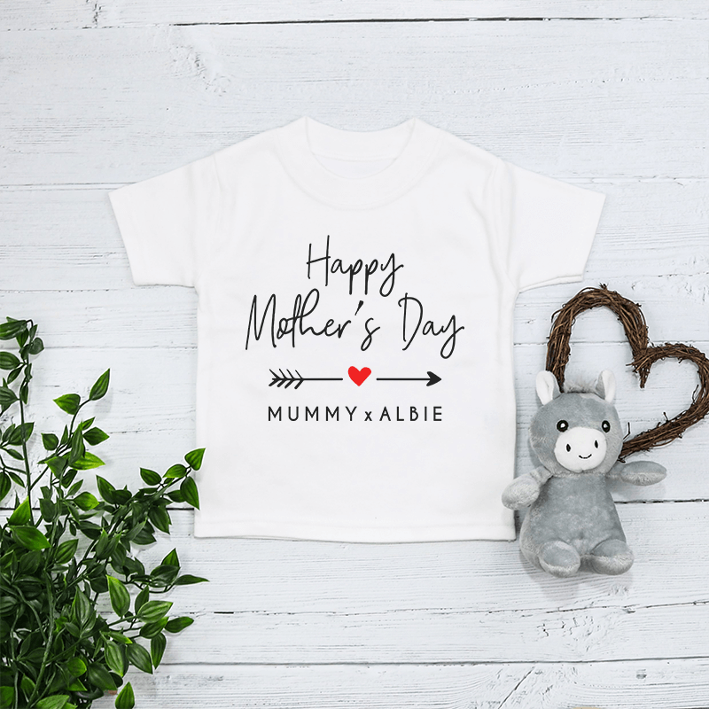 Personalised Matching Mummy And Me Our First Mothers Day Babygrow And T Shirt