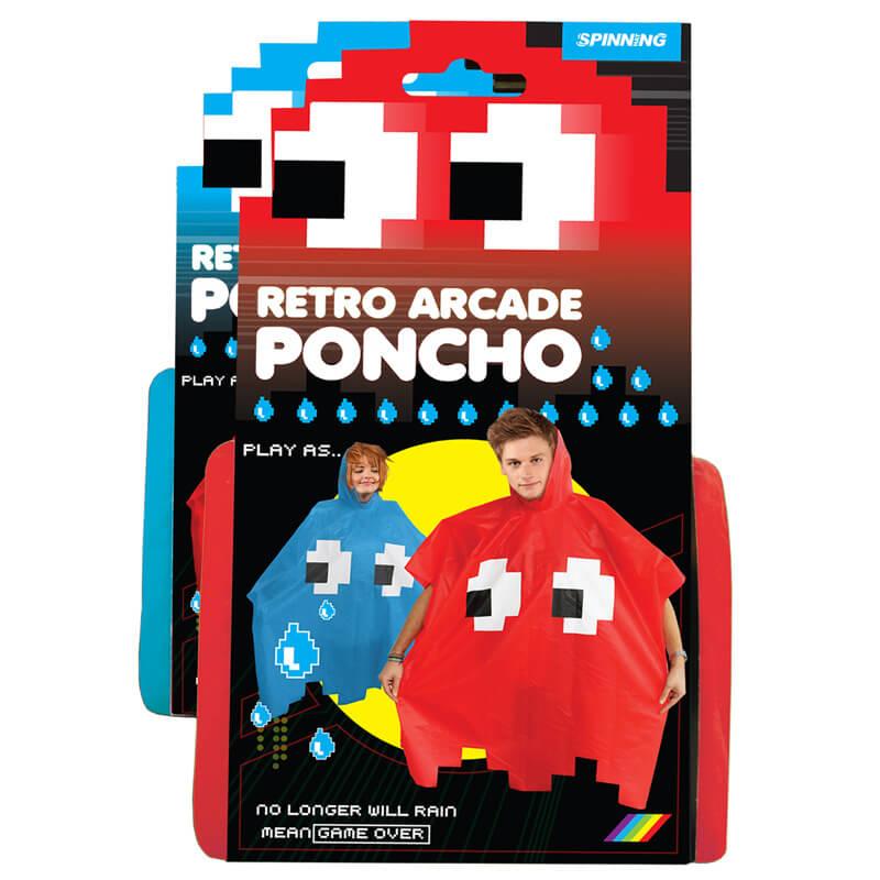 Retro Arcade Poncho - Blue
