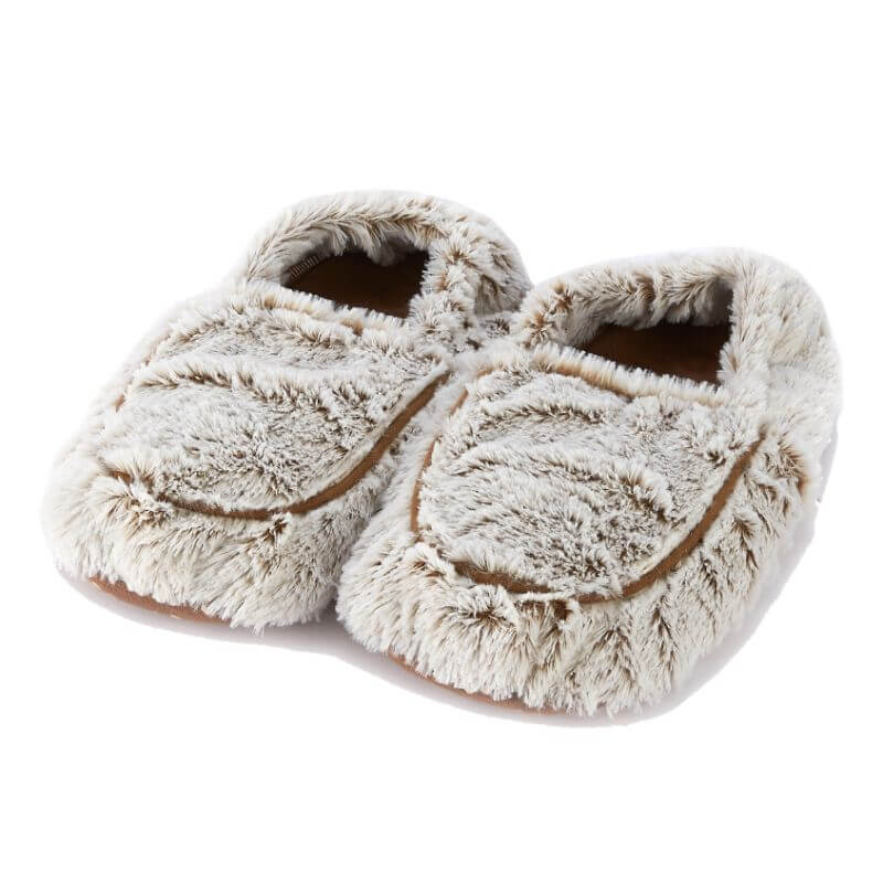 Cozy Microwavable Slippers Marshmallow Beige