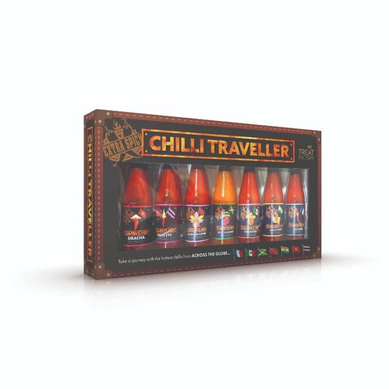 7 Bottle Hot Sauces Set