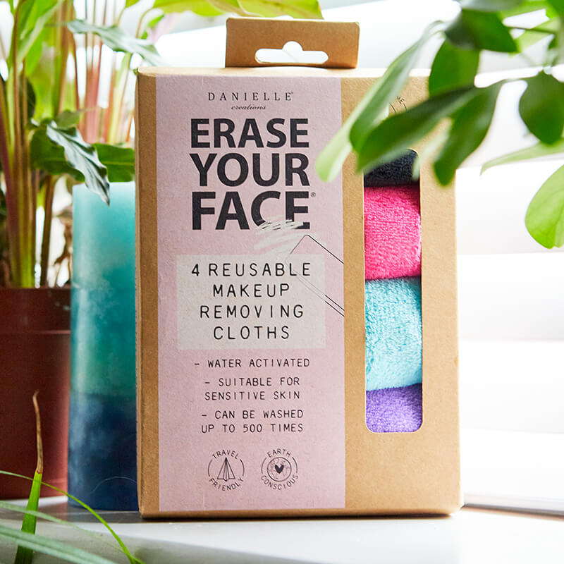 Erase Your Face - Bright Reusable Makeup Removing Cloth - Set of 4