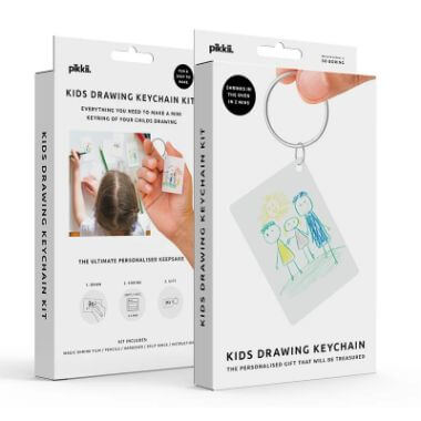 Kids Drawing Shrink Keychain Kit